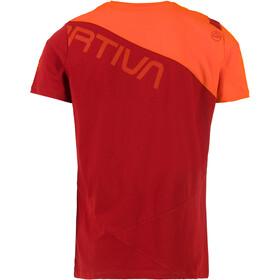 La Sportiva Float T-Shirt Uomo, chili/pumpkin